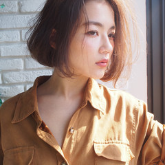 ボブ 大人女子 コンサバ 抜け感 ヘアスタイルや髪型の写真・画像