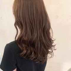 韓国ヘア ナチュラル ゆるふわパーマ セミロング ヘアスタイルや髪型の写真・画像