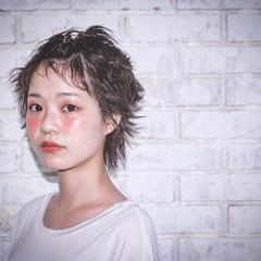 パーマ 夏 ショート ヘアアレンジ ヘアスタイルや髪型の写真・画像