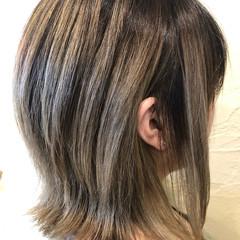 TOKIOトリートメント ストリート バレイヤージュ ミルクティーベージュ ヘアスタイルや髪型の写真・画像