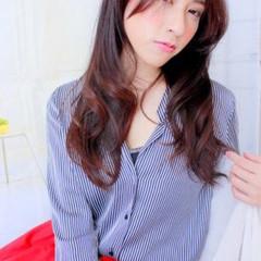 ロング ピンク 大人女子 コンサバ ヘアスタイルや髪型の写真・画像