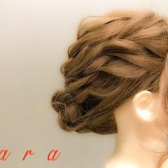 ロング お呼ばれ フェミニン 結婚式 ヘアスタイルや髪型の写真・画像