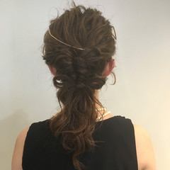 ヘアアレンジ 大人かわいい セミロング 夏 ヘアスタイルや髪型の写真・画像