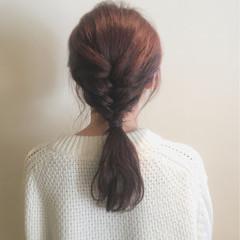 セミロング 簡単ヘアアレンジ ショート ナチュラル ヘアスタイルや髪型の写真・画像