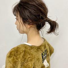 まとまるボブ アンニュイ 切りっぱなしボブ 外ハネボブ ヘアスタイルや髪型の写真・画像