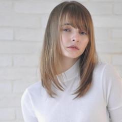 髪質改善 ベージュカラー ナチュラル ロング ヘアスタイルや髪型の写真・画像