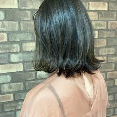 ボブ イルミナカラー 外ハネ 艶髪 ヘアスタイルや髪型の写真・画像