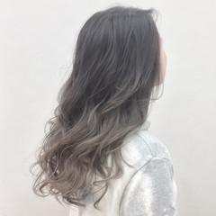 グラデーションカラー エレガント 涼しげ 大人かわいい ヘアスタイルや髪型の写真・画像