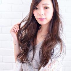 外国人風 大人かわいい ストリート ブラウン ヘアスタイルや髪型の写真・画像