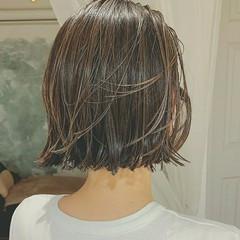 アンニュイほつれヘア ボブ インナーカラー ハイライト ヘアスタイルや髪型の写真・画像