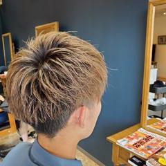 ナチュラル ブラウンベージュ ショート ブリーチオンカラー ヘアスタイルや髪型の写真・画像