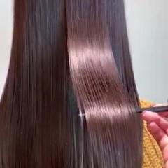 イルミナカラー 髪質改善トリートメント ロング ネイビーブルー ヘアスタイルや髪型の写真・画像
