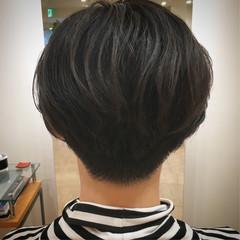 刈り上げ女子 ショートボブ ナチュラル ベリーショート ヘアスタイルや髪型の写真・画像