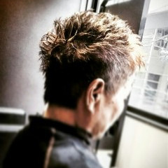 刈り上げ ショート パーマ ボーイッシュ ヘアスタイルや髪型の写真・画像