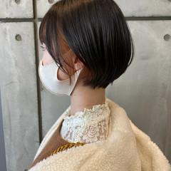 透明感カラー ショート インナーカラー ショートボブ ヘアスタイルや髪型の写真・画像