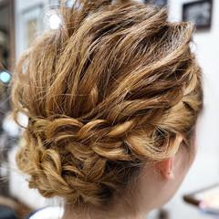 簡単ヘアアレンジ ゆるふわ セミロング 外国人風 ヘアスタイルや髪型の写真・画像