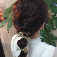 ふわふわヘアアレンジ ナチュラル 簡単ヘアアレンジ ミディアム ヘアスタイルや髪型の写真・画像