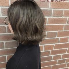 ナチュラル ボブ 外国人風 ミルクティー ヘアスタイルや髪型の写真・画像