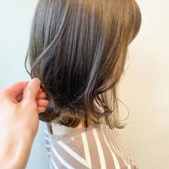 インナーカラー 透明感カラー ナチュラル ボブ ヘアスタイルや髪型の写真・画像