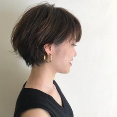 フェミニン エフォートレス スポーツ ショート ヘアスタイルや髪型の写真・画像