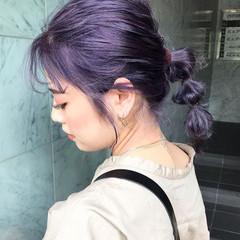 ハイトーンカラー 韓国ヘア 透明感カラー ストリート ヘアスタイルや髪型の写真・画像