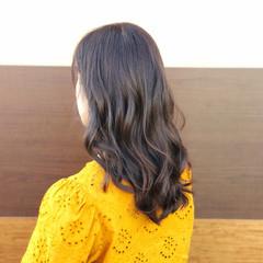 簡単ヘアアレンジ ハイライト モテ髪 セミロング ヘアスタイルや髪型の写真・画像