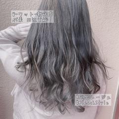 セミロング なんちゃって黒染め グラデーションカラー ナチュラル ヘアスタイルや髪型の写真・画像