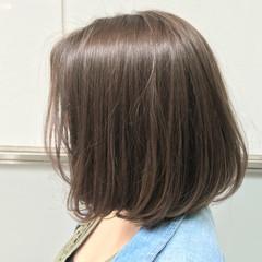 ブルージュ ブラウン ナチュラル ボブ ヘアスタイルや髪型の写真・画像