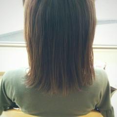 大人かわいい アッシュ ミディアム 暗髪 ヘアスタイルや髪型の写真・画像