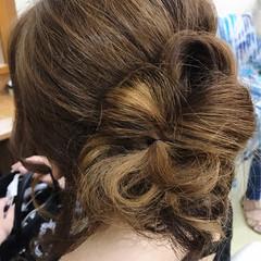 ロング ナチュラル デート 結婚式 ヘアスタイルや髪型の写真・画像