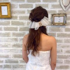 ナチュラル ロング 大人女子 結婚式 ヘアスタイルや髪型の写真・画像