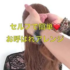 ロング 簡単ヘアアレンジ ヘアアレンジ 結婚式ヘアアレンジ ヘアスタイルや髪型の写真・画像