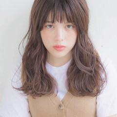 女子力 透明感 セミロング 大人かわいい ヘアスタイルや髪型の写真・画像