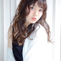 フェミニン 大人かわいい ロング 暗髪 ヘアスタイルや髪型の写真・画像