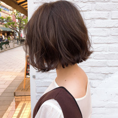 ショートヘア ボブ ハンサムショート ナチュラル ヘアスタイルや髪型の写真・画像