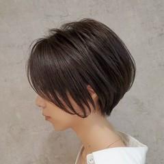 ナチュラル ショート ショートボブ ミニボブ ヘアスタイルや髪型の写真・画像