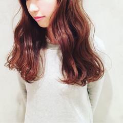大人かわいい ゆるふわ ロング ボブ ヘアスタイルや髪型の写真・画像