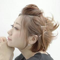 ヘアアレンジ ヘアアクセ ショート ヘアピン ヘアスタイルや髪型の写真・画像