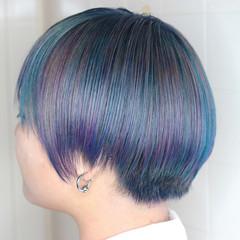 派手髪 モード ハイトーンカラー ショート ヘアスタイルや髪型の写真・画像