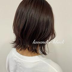 ラベンダーカラー ラベンダーグレージュ ナチュラル ウルフカット ヘアスタイルや髪型の写真・画像