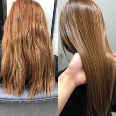 髪質改善カラー ナチュラル セミロング 髪質改善 ヘアスタイルや髪型の写真・画像