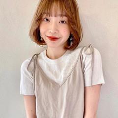 ナチュラル 韓国風ヘアー 韓国ヘア 内巻き ヘアスタイルや髪型の写真・画像