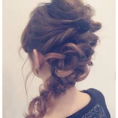 ルーズ 簡単ヘアアレンジ ヘアアレンジ フェミニン ヘアスタイルや髪型の写真・画像