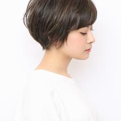 ショートヘア ショート ナチュラル お手入れ簡単!! ヘアスタイルや髪型の写真・画像