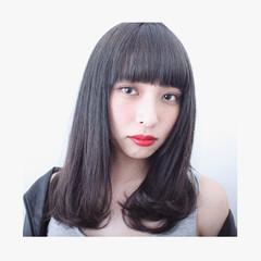 グラデーションカラー ナチュラル 暗髪 アッシュ ヘアスタイルや髪型の写真・画像
