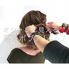 フェミニン アウトドア ヘアアレンジ デート ヘアスタイルや髪型の写真・画像