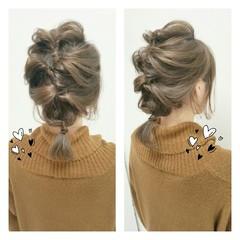 ミディアム 簡単ヘアアレンジ ルーズ 抜け感 ヘアスタイルや髪型の写真・画像