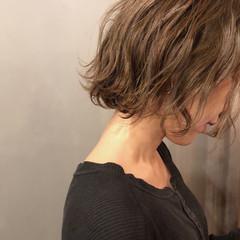 ボブ スモーキーカラー ショートボブ 外国人風カラー ヘアスタイルや髪型の写真・画像