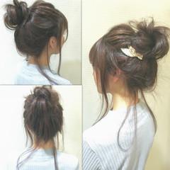 セミロング ショート ヘアアレンジ ゆるふわ ヘアスタイルや髪型の写真・画像