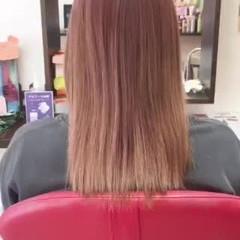 ストレート ロング エクステ 韓国ヘア ヘアスタイルや髪型の写真・画像